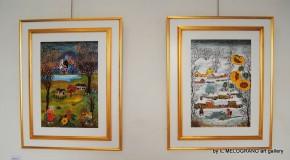 Siliana Lenzi, l'artista naif alla galleria Il melograno