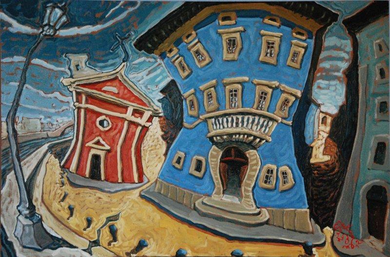 Enrico Bulciolu,  I colori del Lungarno, Palazzo blu