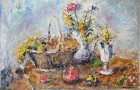 Federico Cresci  Natura morta con cesta e mimosa € 250 Pick Art € 150