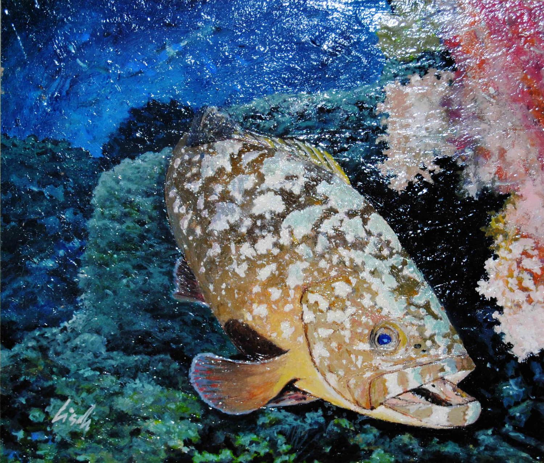 Federico lischi cernia galleria d 39 arte livorno quadri for Comprare pesci online