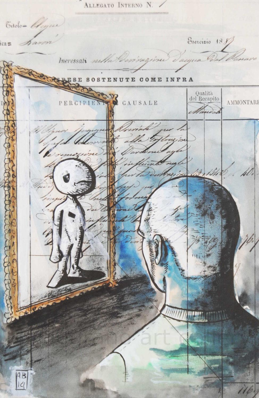 Alessio bolognesi attraverso lo specchio galleria d 39 arte livorno quadri online - Lo specchio nell arte ...