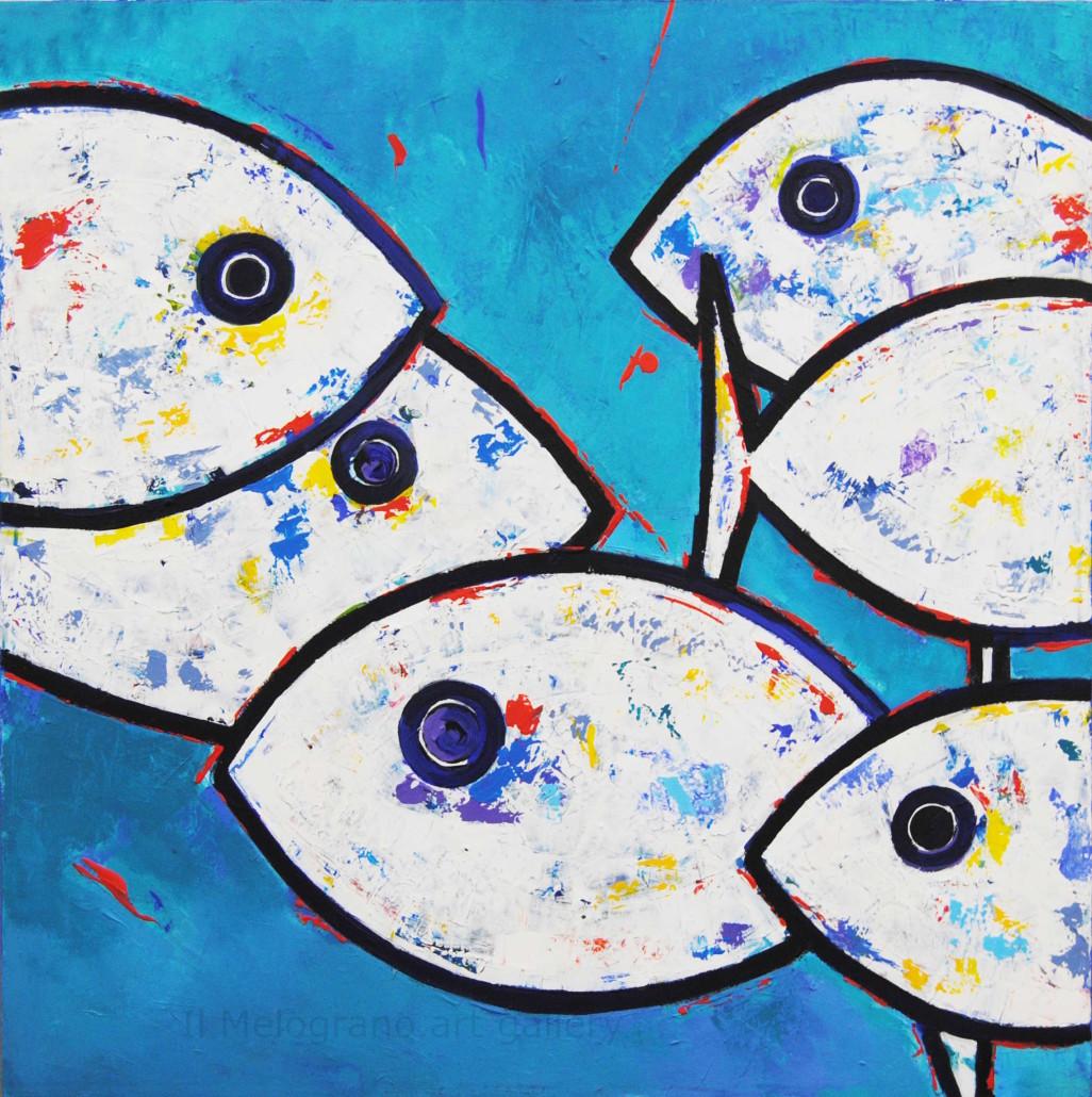 Benedetto magnano san lio pesci galleria d 39 arte livorno for Comprare pesci